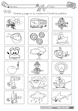 best Imagenes De Palabras Con La Letra B Para Colorear image collection